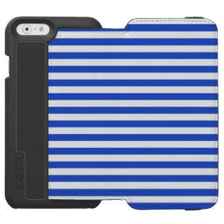 Coque-portefeuille iPhone 6 Incipio Watson™ Rayures de combinaison de bleu royal par Shirley