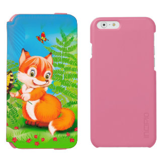 Coque-portefeuille iPhone 6 Incipio Watson™ renard et papillon