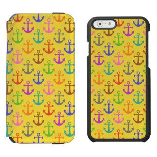 Coque-portefeuille iPhone 6 Incipio Watson™ Rétro nautique de motif coloré d'ancre