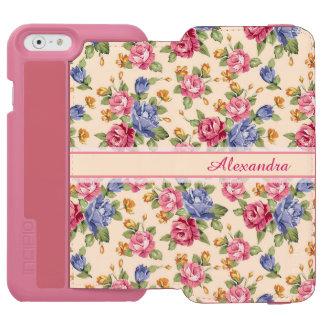 Coque-portefeuille iPhone 6 Incipio Watson™ Rose romantique en pastel de fleur, rouge, nom