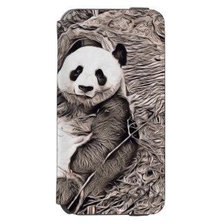 Coque-portefeuille iPhone 6 Incipio Watson™ Style rustique - panda