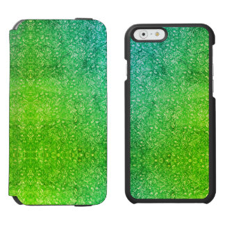 Coque-portefeuille iPhone 6 Incipio Watson™ Vitalité colorée lumineuse florale verte au néon
