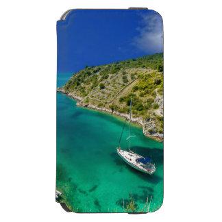 Coque-portefeuille iPhone 6 Incipio Watson™ Voilier dans l'océan de vert vert