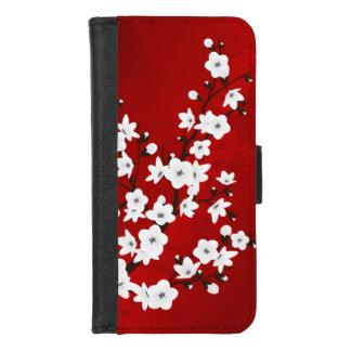 Coque Portefeuille Pour iPhone 8/7 Fleurs de cerisier blanches noires rouges