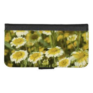 Coque Portefeuille Pour iPhone 8/7 Fleurs jaunes