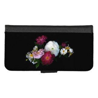 Coque Portefeuille Pour iPhone 8/7 iPhone démodé vintage de roses 8/7 caisse de