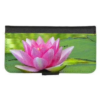 Coque Portefeuille Pour iPhone 8/7 iPhone rose de nénuphar de Lotus 8/7 caisse de