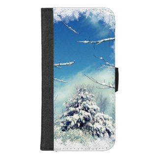 Coque Portefeuille Pour iPhone 8/7 Plus Arbre dans l'iPhone de neige d'hiver 8/7 caisse