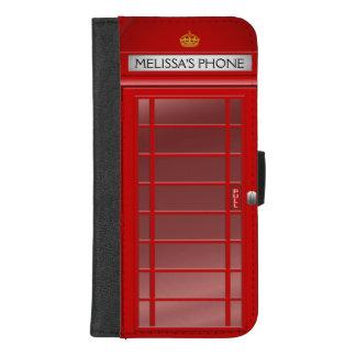 Coque Portefeuille Pour iPhone 8/7 Plus Cabine téléphonique britannique vintage