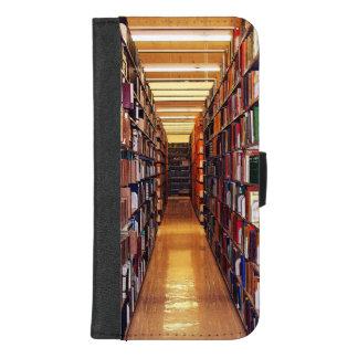 Coque Portefeuille Pour iPhone 8/7 Plus iPhone d'étagères à livres de bibliothèque 8/7