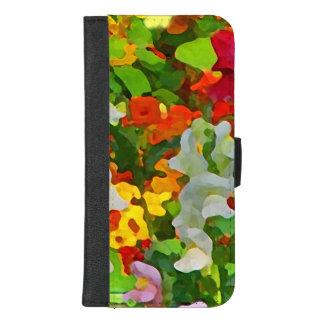 Coque Portefeuille Pour iPhone 8/7 Plus iPhone floral de jardin d'agrément 8/7 caisse plus