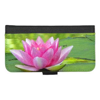 Coque Portefeuille Pour iPhone 8/7 Plus iPhone rose de Lotus de nénuphar 8/7 caisse plus