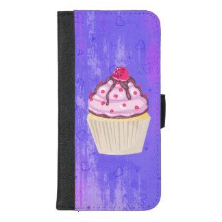 Coque Portefeuille Pour iPhone 8/7 Plus Petit gâteau doux avec la framboise sur le dessus
