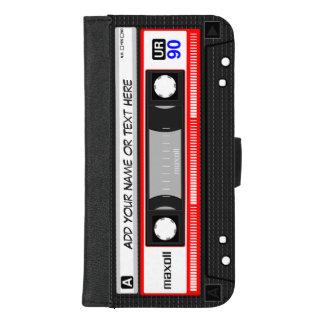 Coque Portefeuille Pour iPhone 8/7 Plus Rétro enregistreur à cassettes drôle de musique