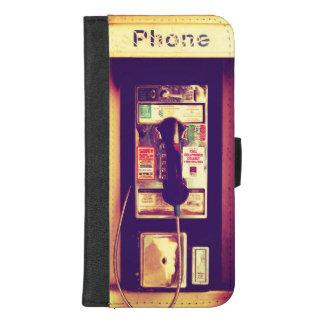 Coque Portefeuille Pour iPhone 8/7 Plus Téléphone payant vintage de public des États-Unis