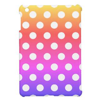 Coque Pour iPad Mini Arrière - plan coloré avec cas d'iPad de pois le