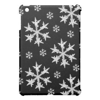 Coque Pour iPad Mini Blanc sur la conception noire de flocon de neige