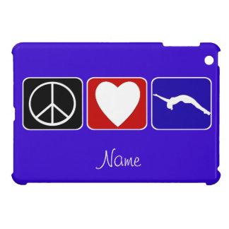 Coque Pour iPad Mini Cas d'ipad de gymnaste de dégringolade d'amour de