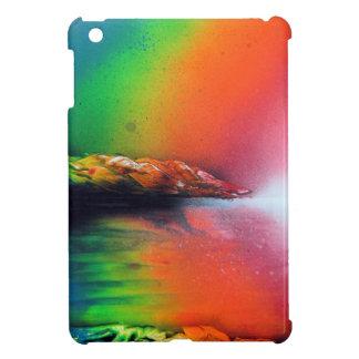 Coque Pour iPad Mini Coucher du soleil d'arc-en-ciel avec l'art de