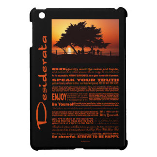 Coque Pour iPad Mini Coucher du soleil romantique d'arbre de poème de