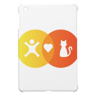 Coque Pour iPad Mini Diagramme de Venn de chats de coeur de personnes
