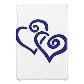 Coque Pour iPad Mini Double coeur de marine