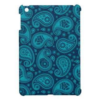 Coque Pour iPad Mini Élégant bleu de motif de Paisley