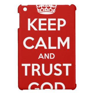 Coque Pour iPad Mini Gardez Dieu de calme et de confiance