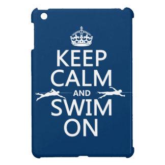 Coque Pour iPad Mini Gardez le calme et nagez sur (dans toute couleur)