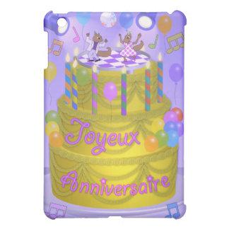 """Coque Pour iPad Mini Gâteau de """"joyeux anniversaire"""" (français)"""