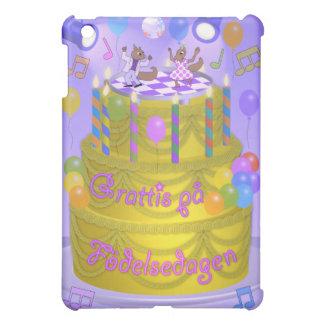 """Coque Pour iPad Mini Gâteau de """"joyeux anniversaire"""" (suédois)"""