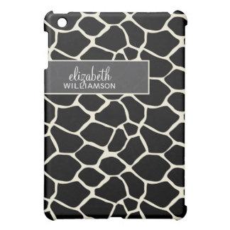 Coque Pour iPad Mini Girafe noire Pern de bois d'ébène