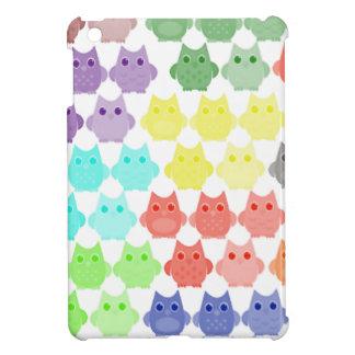 Coque Pour iPad Mini Hiboux modernes mignons colorés gais adorables
