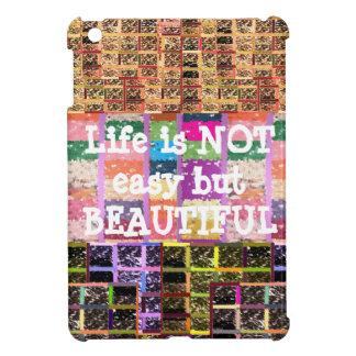Coque Pour iPad Mini La vie est belle :  Texte Editable. Modèle de