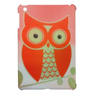 Coque Pour iPad Mini Mini cas de HIBOU d'iPad brillant intuitif ORANGE