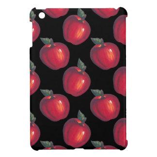 Coque Pour iPad Mini Noir rouge de pommes