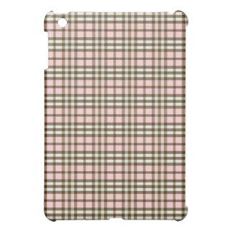 Coque Pour iPad Mini Plaid Pern de roses pâles/chocolat
