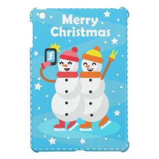 Coque Pour iPad Mini snowman / bonhomme de neige