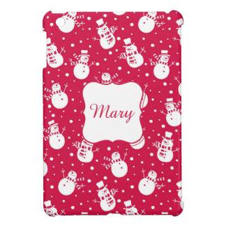 Coque Pour iPad Mini Snowmans similing drôles utilisant le casquette et