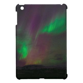 Coque Pour iPad Mini Terres de nature d'arbres de lumières du nord de