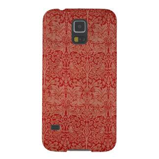 Coque Pour Samsung Galaxy S5 Caisse rouge de téléphone de motif de rideau en