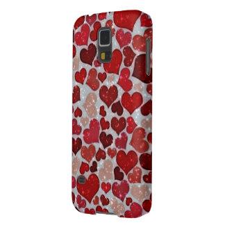 Coque Pour Samsung Galaxy S5 Coeurs de scintillement,