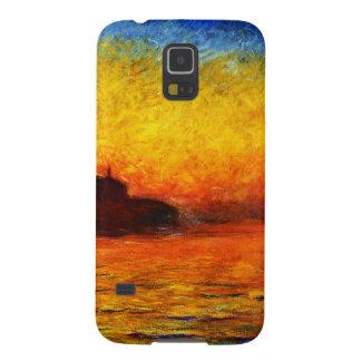 Coque Pour Samsung Galaxy S5 Monet-Coucher du soleil de Claude à Venise