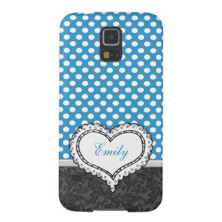Coque Pour Samsung Galaxy S5 Monogramme de très bon goût gai adorable de coeur