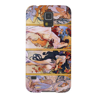 Coque Pour Samsung Galaxy S5 Quatre saisons par Alphonse Mucha 1895