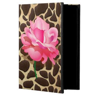 Coque Powis iPad Air 2 Assez rose Brown de rose et poster de animal d'or