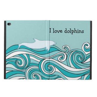 Coque Powis iPad Air 2 J'aime des caisses d'air d'iPad de dauphins