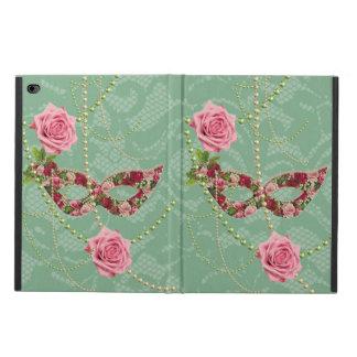 Coque Powis iPad Air 2 Roses assez roses mascarade et de perles vert