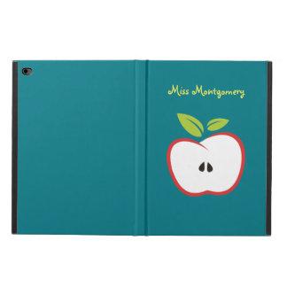 Coque Powis iPad Air 2 Une pomme avec le feuille d'ensemble rouge et de