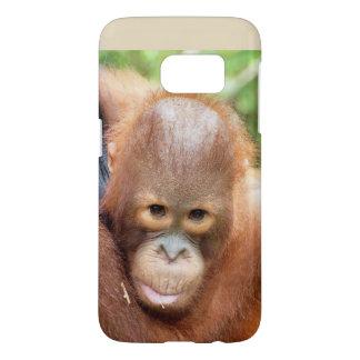 Coque Samsung Galaxy S7 Animaux du Bornéo d'orang-outan de Karbank